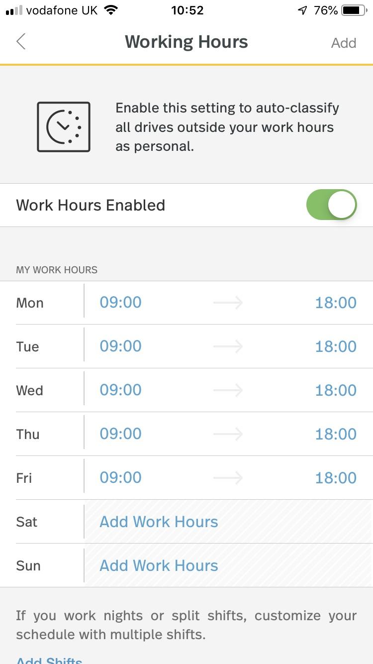 Mile IQ Working Hours